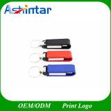 De Aandrijving van de Flits van het Leer Pendrive USB van het metaal USB met Keychain