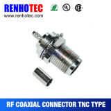 Conector TNC macho para cable de crimpado recto 316