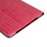 악어 패턴 가죽 직업 iPad를 위한 자동 잠 정제 상자
