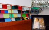 Panneau de table en verre érable coloré multicolore avec En71 / 72/73