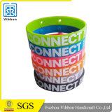 Wristband su ordinazione della gomma del braccialetto del silicone/silicone