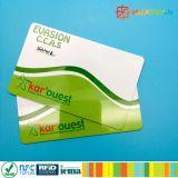 Silk Bildschirm gedruckte Zoll RFID MIFARE DESFire Karte für Identität