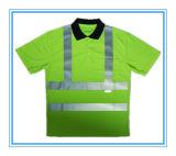 工場からの高い可視性かHigの気力の反射安全ポロシャツ/ジャケット