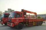 De Op zwaar werk berekende Vrachtwagen Loadingturck van Dongfeng 6X4 Opgezet met 12t de Vrachtwagen van de Kraan
