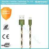 새로운 나일론 땋는 마이크로 컴퓨터 USB 데이터는 비용을 부과 케이블 iPhone 7/6/5를 위한 단식한다