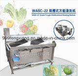 Machine de nettoyage diversifiée Machine à laver à double fosse, laveuse aux légumes / fruits