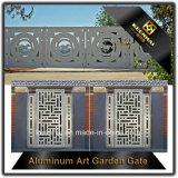 Portello di alluminio decorativo del giardino tagliato laser