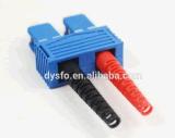 Bleu duplex de SM de connecteur de fibre de Sc