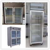 Замораживатель холодильника индикации кухни двери нержавеющей стали стеклянный