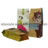 Высушенный мешок Kraft бортового Gusset бумажный для легкой закускы и - плодоовощ
