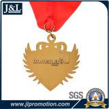 O ouro brilhante do projeto do cliente ostenta a medalha com preço de fábrica