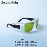 De Beschermende brillen van de Veiligheid van de laser/Glazen Ady 7401100nm de Certificatie van Ce de Meeste Populaire Glazen van de Bescherming van de Ogen van de Laser van de Beschermende brillen van de Veiligheid van de Laser van de Bril van de Veiligheid van de Laser