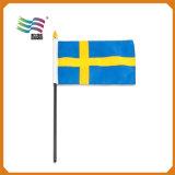 Пластичный ручной флаг ручки (HYHF-AF064)