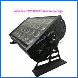 LED popular en el interior de la luz de la etapa 24 PCS *12W de iluminación de lavado