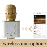 De nieuwe Spreker van Bluetooth van de Microfoon van het Ontwerp Q7 Draadloze Handbediende