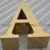 L'épaisseur de 3cm personnalisé 304 lettres en acier inoxydable à finition brossée Logo de la société