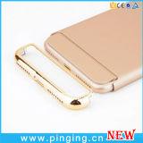 Caja dura plástica Electroplated al por mayor del teléfono para el iPhone 7/6 más