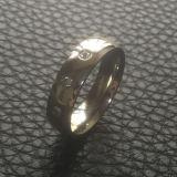 La moda de joyería de piedras 3 Anillo de dedo de acero inoxidable