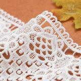 Lacet chimique du lacet L40018 de modèle laiteux bon marché de fleur pour le vêtement