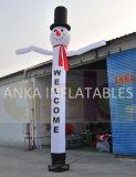 De lichte Adverterende Welkome Danser van de Lucht van Kerstmis van het Ontwerp van de Sneeuwman Opblaasbare Mini