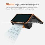 Lector de tarjetas de la impresora / RFID de la ayuda de la terminal del punto de android / código de barras de NFC / 2D / 3G / WiFi / Bluetooth