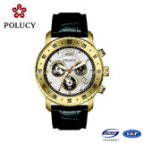 2016 het Hete Verkopende Horloge van het Embleem van de Douane van de Horloges van het Kwarts van het Roestvrij staal