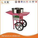 De roze Elektrische Machine van de Zijde van de Gesponnen suiker met Kar
