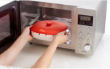 Recipiente/caixa do silicone Brochette/BBQ da platina do material plástico para a micrôonda