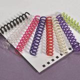 オフィスの結合の供給および文房具のためのプラスチック螺線形ワイヤー螺旋綴じ