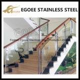 Pasamano de cristal del balcón de la barandilla del pasamano de la escalera del acero inoxidable/del acero inoxidable