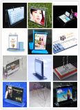 Cremagliere di visualizzazione acriliche da tavolino del supporto del calendario da 6 pollici per il calendario, la foto o il menu