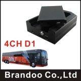 Shockproof HDD Typ 4CH D1 bewegliches DVR, Support 3G, GPS, freier Cms-Klient und Server-Software stellen von Brandoo zur Verfügung