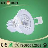 9W Downlight LED 90mm utilizado para LED Bombilla de luz hacia abajo