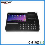 Tablette d'écran tactile de paiement terminaux de position de 7 pouces pour le restaurant ou le supermarché, systèmes de position, caisse comptable avec l'imprimante de scanner de code barres, MJ PC701