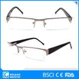 Glaces de relevé optiques en métal de demi de bâti de lunetterie d'ordonnance de mode
