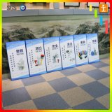 la cabina de Celuka del blanco de 3m m que hace publicidad del PVC de la muestra hace espuma libremente tarjeta