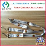 Kundenspezifische Identifikation-Kartenhalter-Satin-Abzuglinie für Keychains