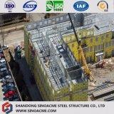 Edifício comercial pré-fabricado Multi-Storey de China com frame de aço claro