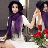 Signore personalizzate modo sciarpa di seta lunga e sciarpa di Hijab degli scialli