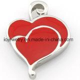 Pendente del cuore di amore dello smalto per gli amanti