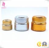 Tarro poner crema de aluminio cosmético con diversa capacidad
