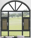 Finestra di alluminio di vetro della stoffa per tendine dell'isolamento termico singola per costruzione