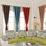 Limpiar la ropa de estilo sólido tejido tela cortina blackout (14F0014)