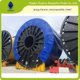 Tissu enduit de plastique PVC pour usage intensif de bâches TO085