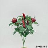 Manzanas artificiales/plásticas Bush (3109014-7) de la Navidad