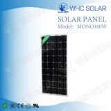 高性能100Wのモノクリスタルモノラル太陽電池