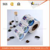 Papel de PVC Atención impermeable etiqueta transparente personalizada impresión de la etiqueta de servicio
