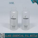 30ml botella de aceite esencial de vidrio esmerilado con Glod Tapar