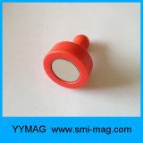 Ímã revestido de plástico colorido de neodímio Empilhador de pressão