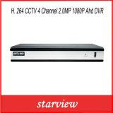 監視H. 264 CCTV 4チャネル2.0MP 1080P Ahd CCTV DVR
